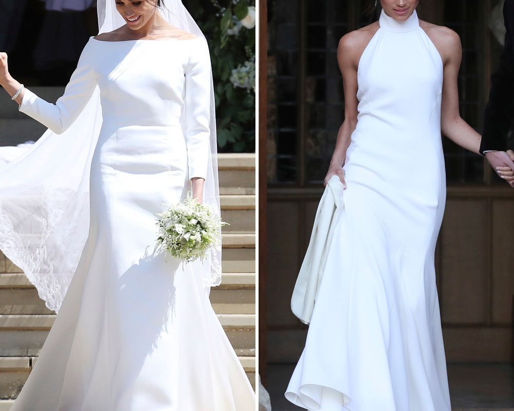 meghan markle wedding dresses getty images