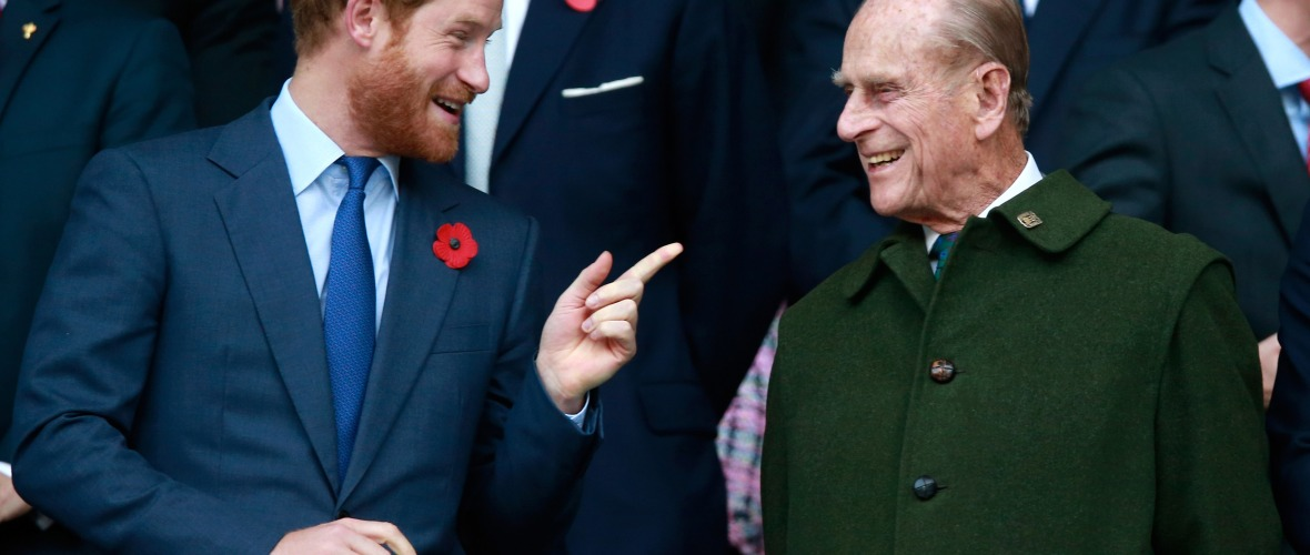 prince philip and prince harry getty images