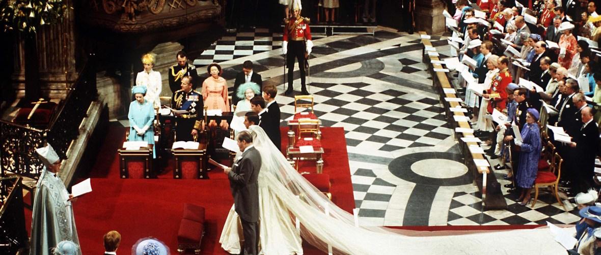 princess diana's wedding getty images