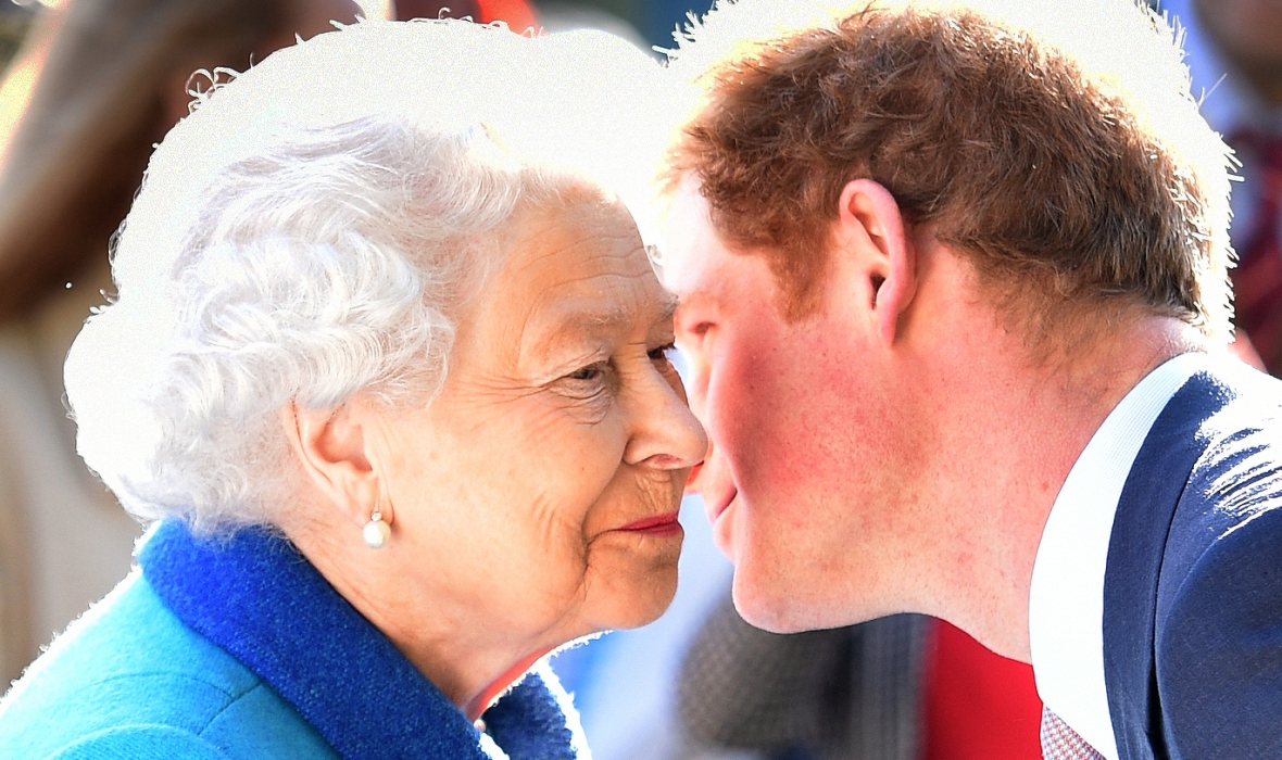queen elizabeth prince harry getty images