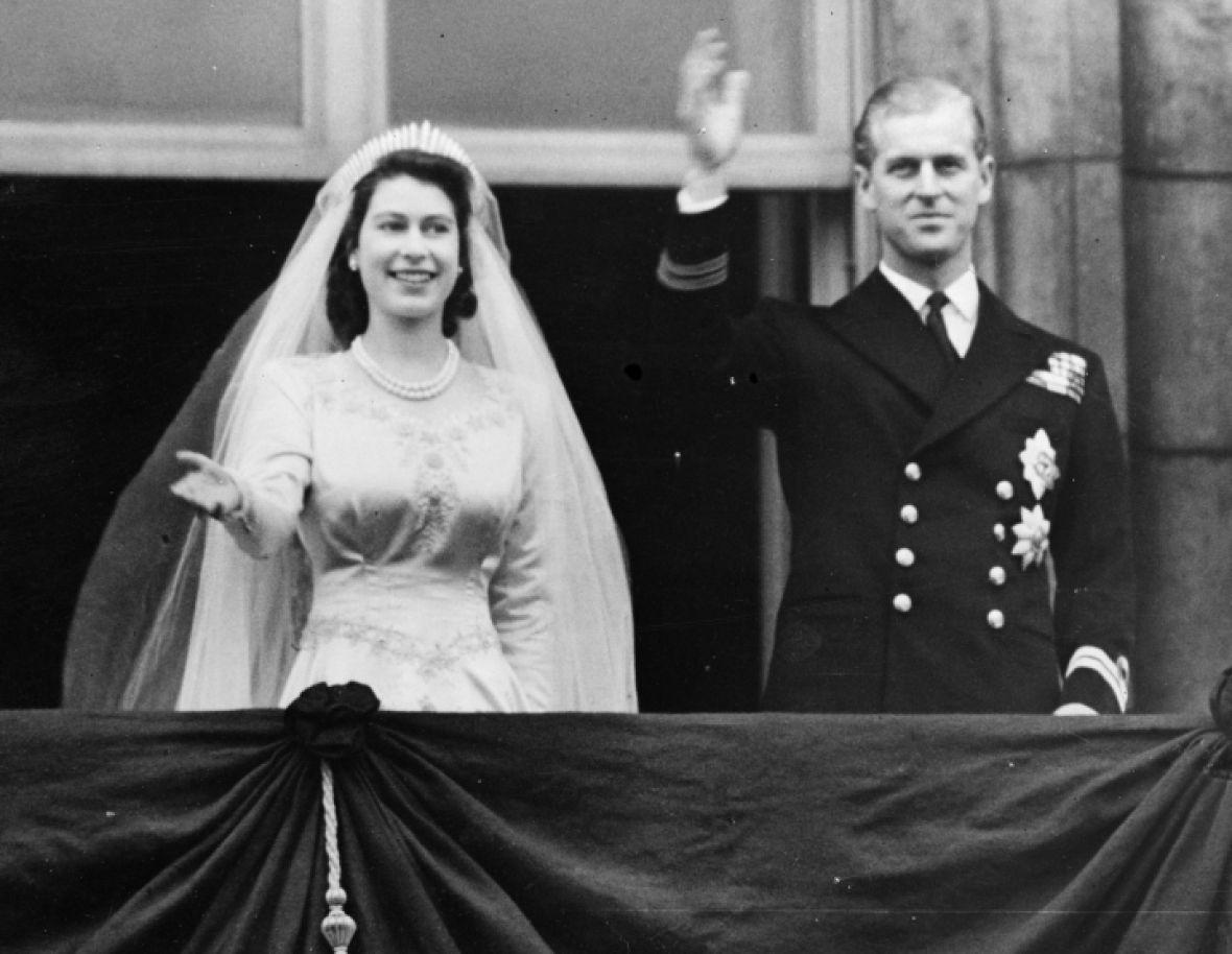 queen elizabeth wedding getty images