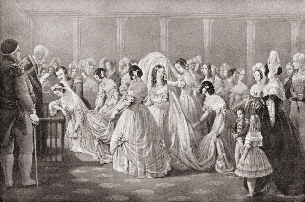 queen victoria's wedding getty images