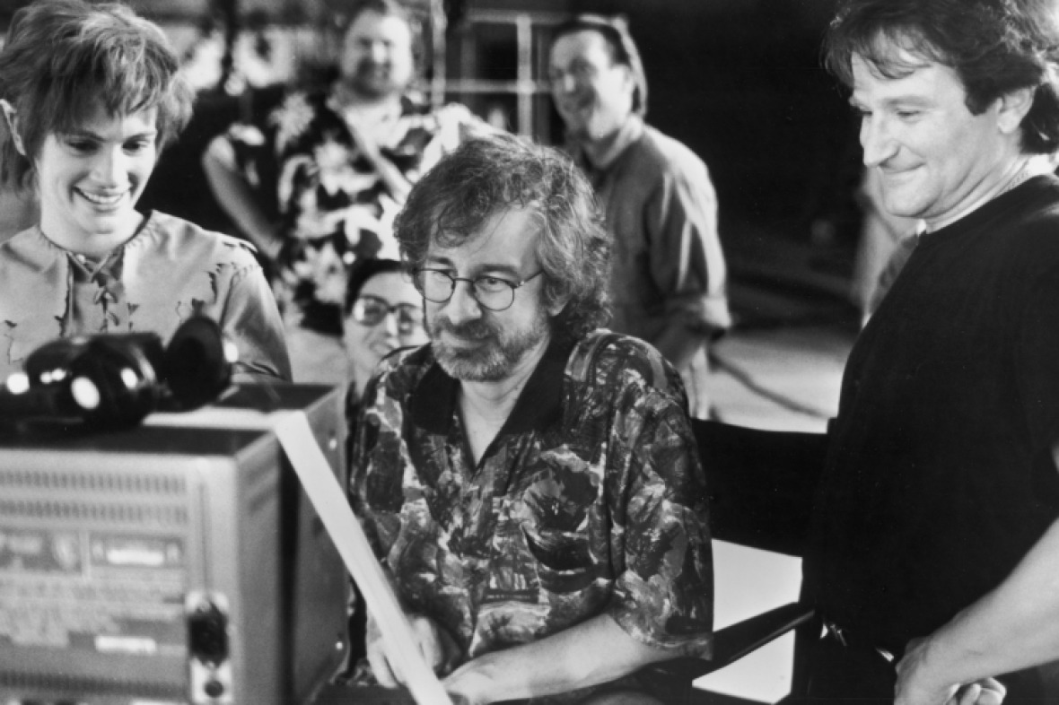 robin williams and steven spielberg on hook getty images