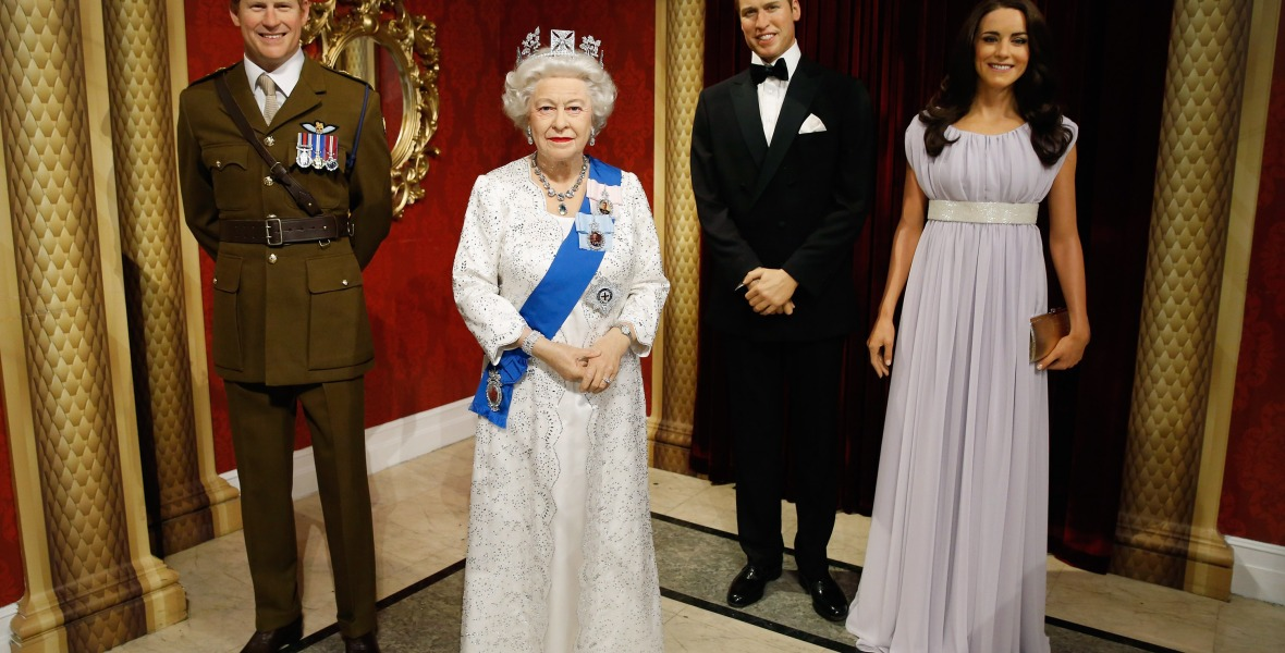 royal family wax figures getty images