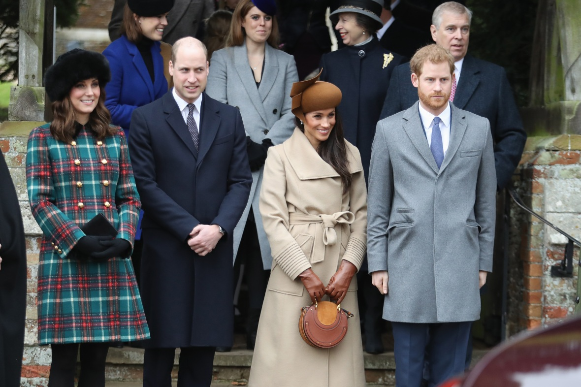 meghan, harry, kate and william getty images