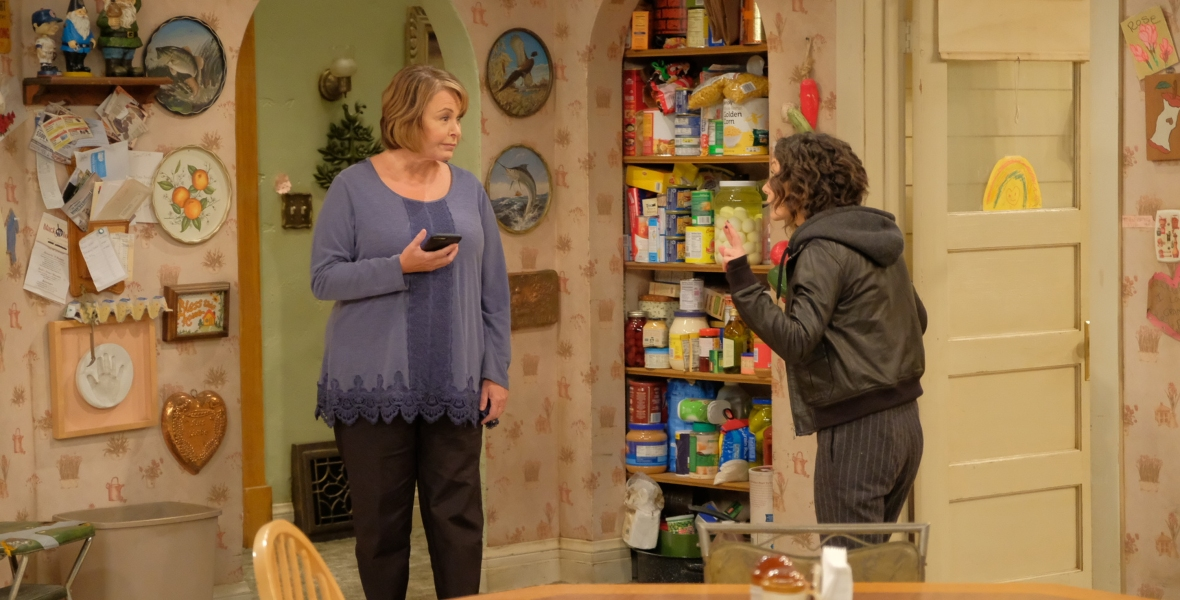 sara gilbert roseanne barr getty images