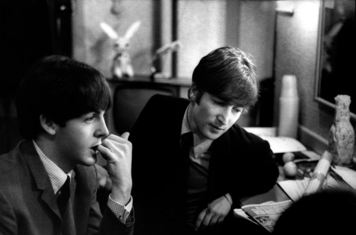 the beatles - paul and john