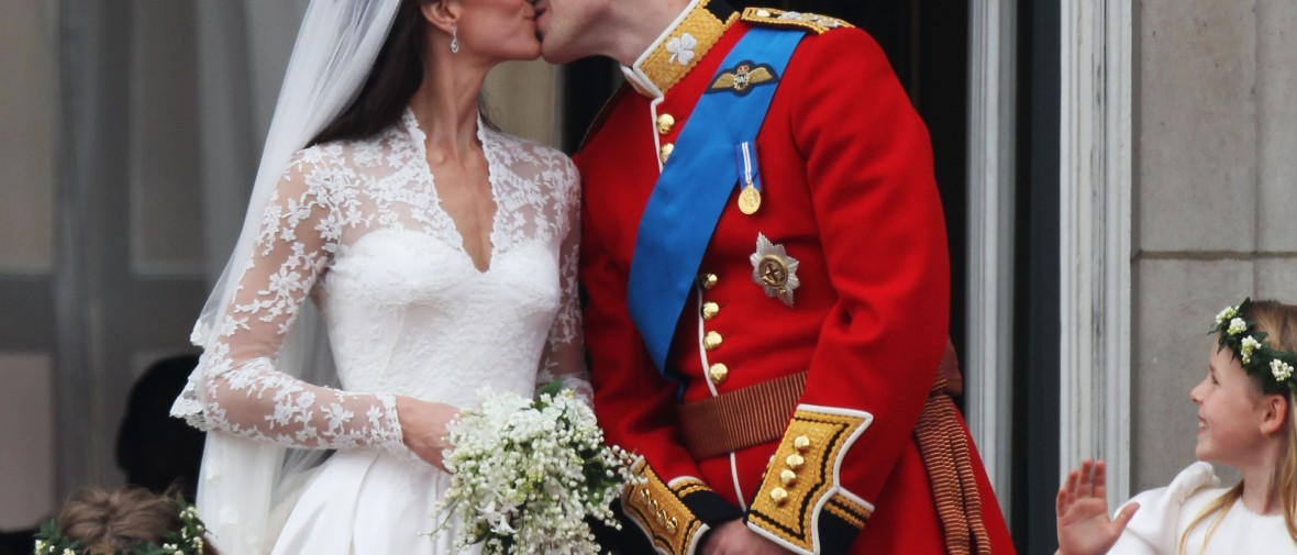 kate and william wedding kiss getty images