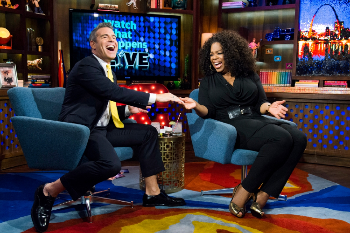 andy cohen and oprah getty images