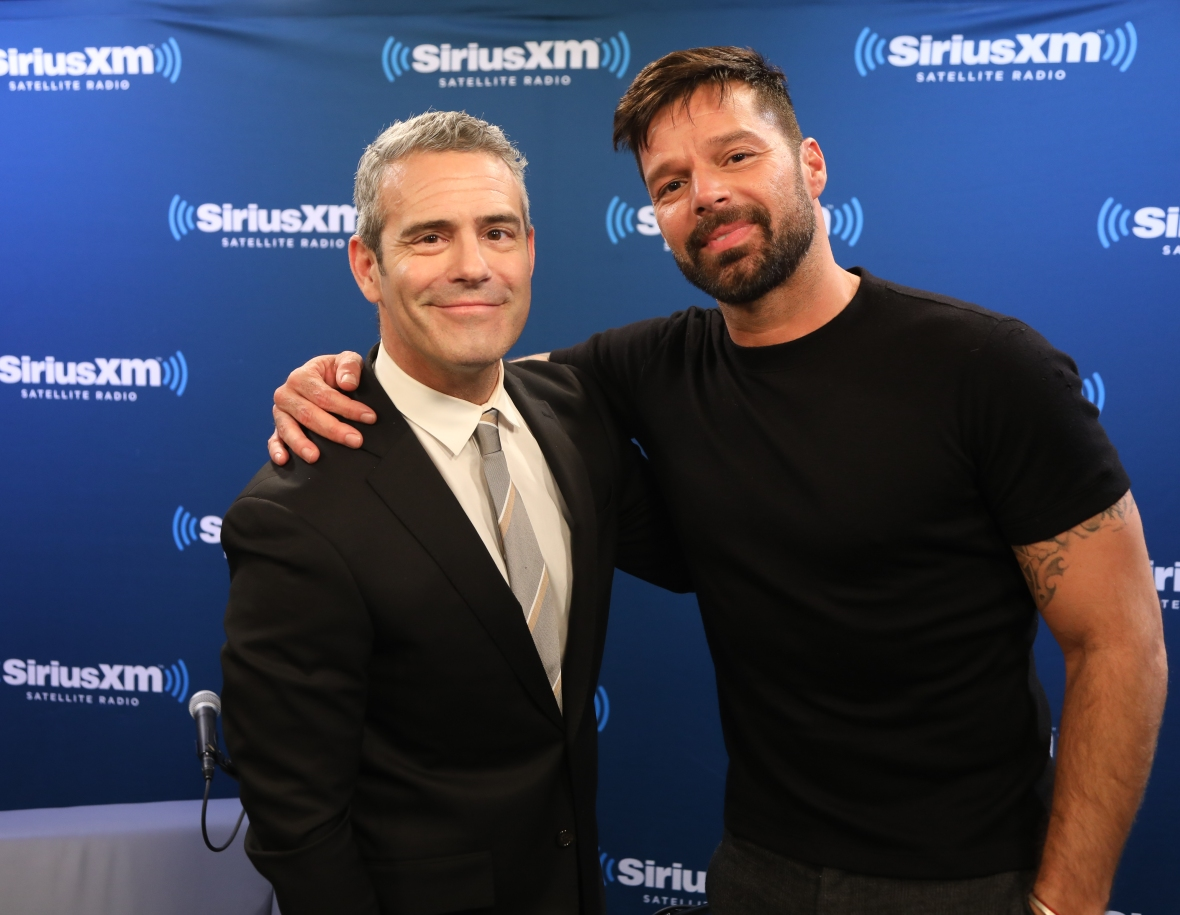 andy cohen and ricky martin getty images