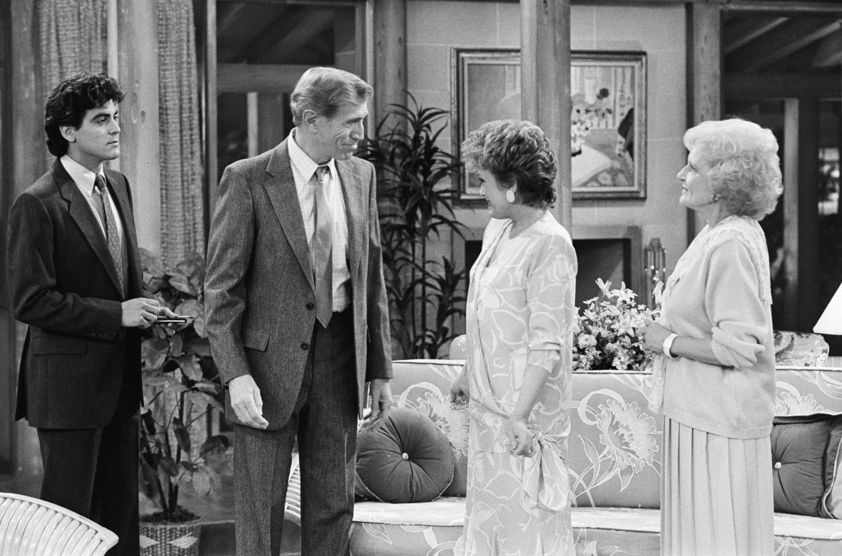 george clooney on 'the golden girls'