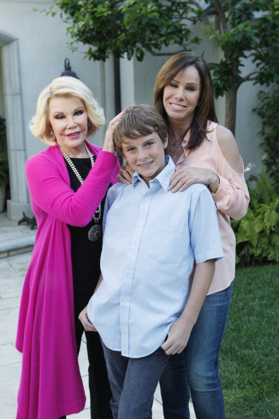 joan and melissa rivers with cooper getty images