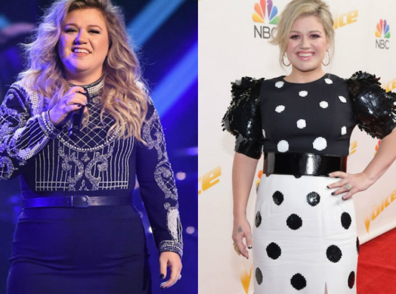 kelly clarkson before and after weight loss