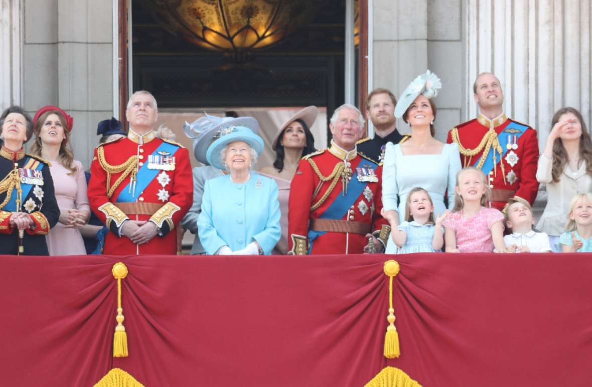 meghan markle trooping of the colour getty images