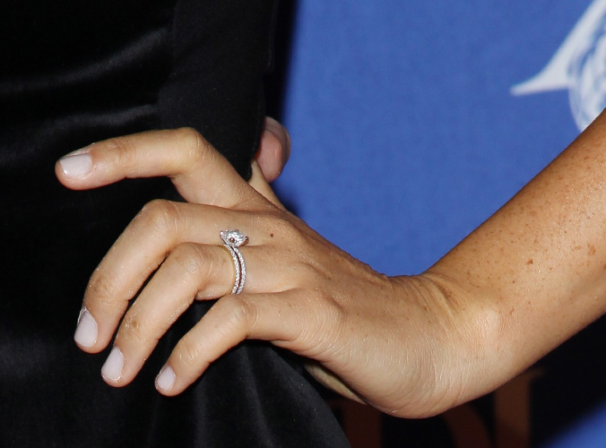 meghan markle first engagement ring
