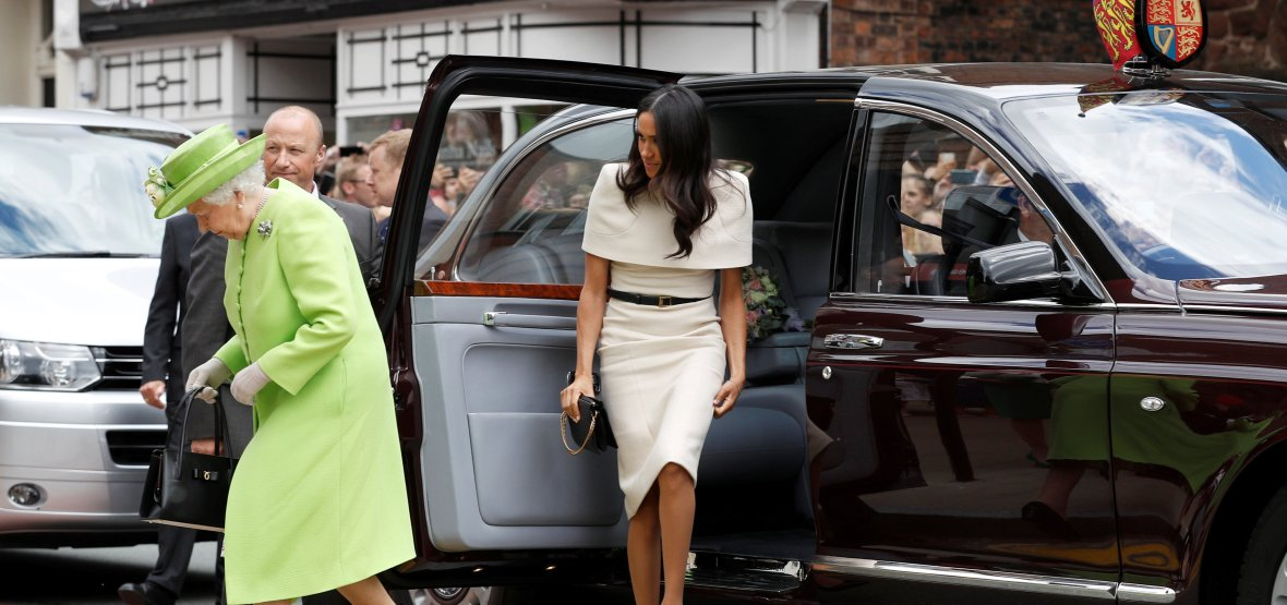 meghan markle queen elizabeth car