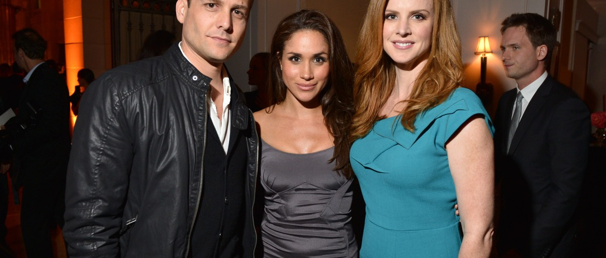gabriel macht, meghan markle and sarah rafferty getty images