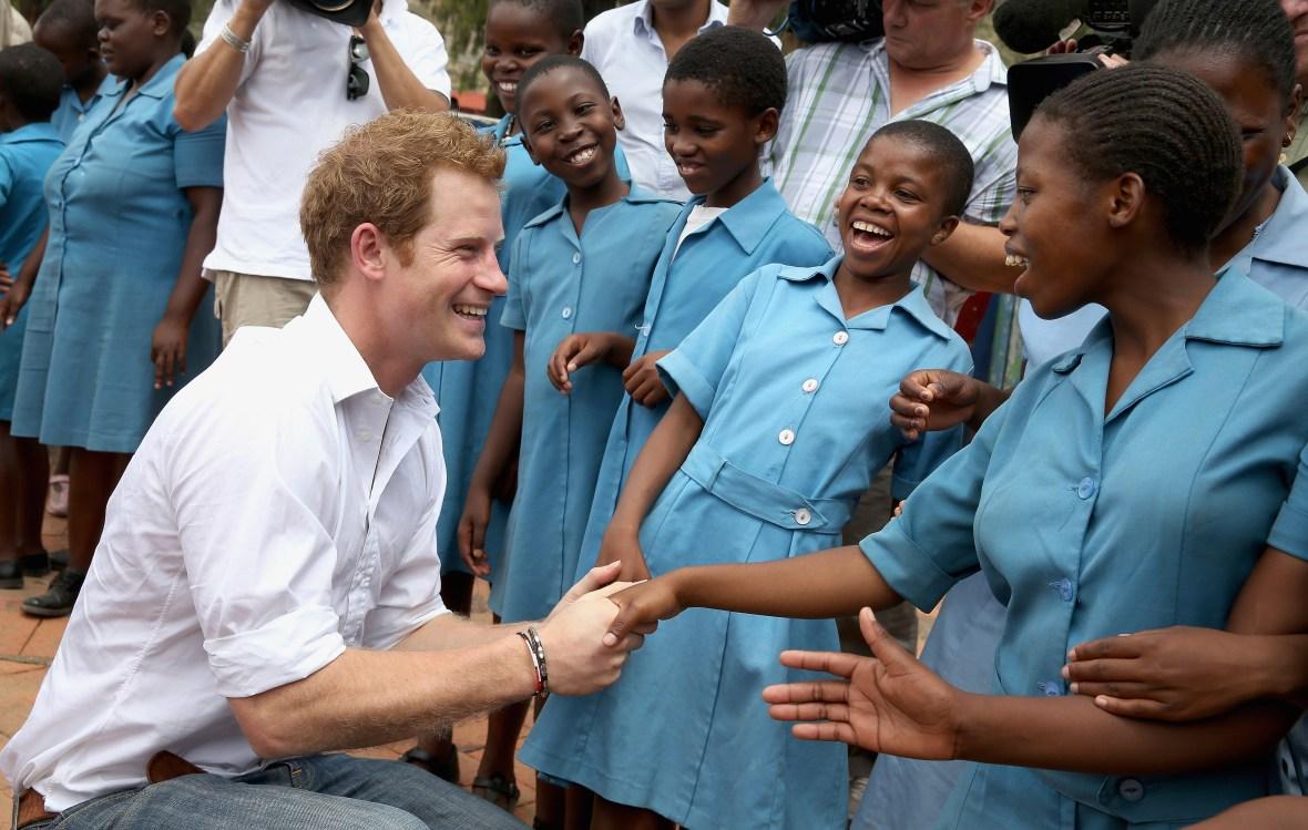 prince harry africa trip