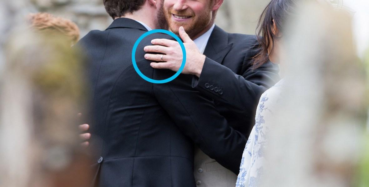 prince harry wedding ring splash