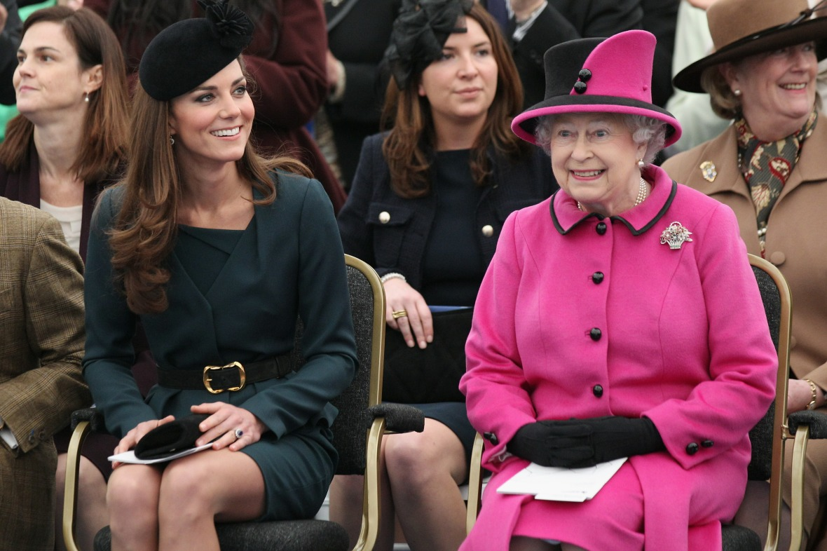 queen elizabeth kate middleton getty images