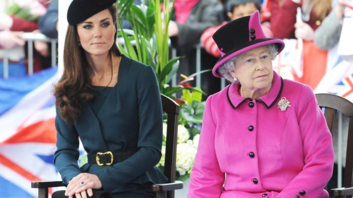queen elizabeth kate middleton getty images
