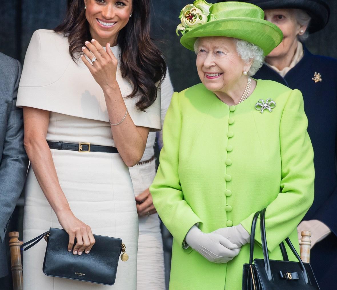 queen elizabeth meghan markle getty images