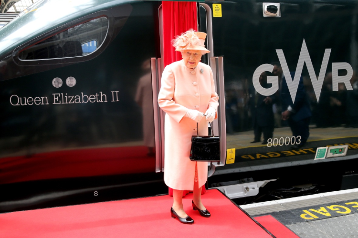 queen elizabeth train getty images