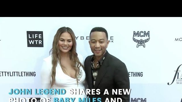 John Legend Shares a New Photo of Baby Miles and We're Legit Seeing Double