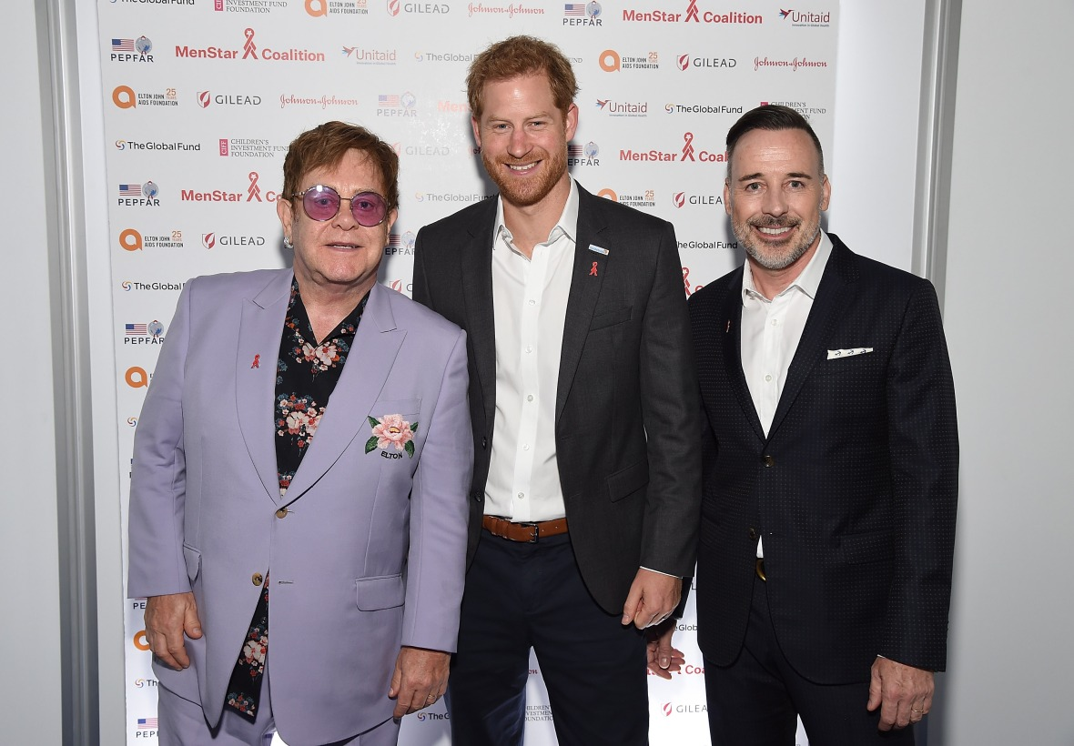 prince harry, elton john, and david furnish
