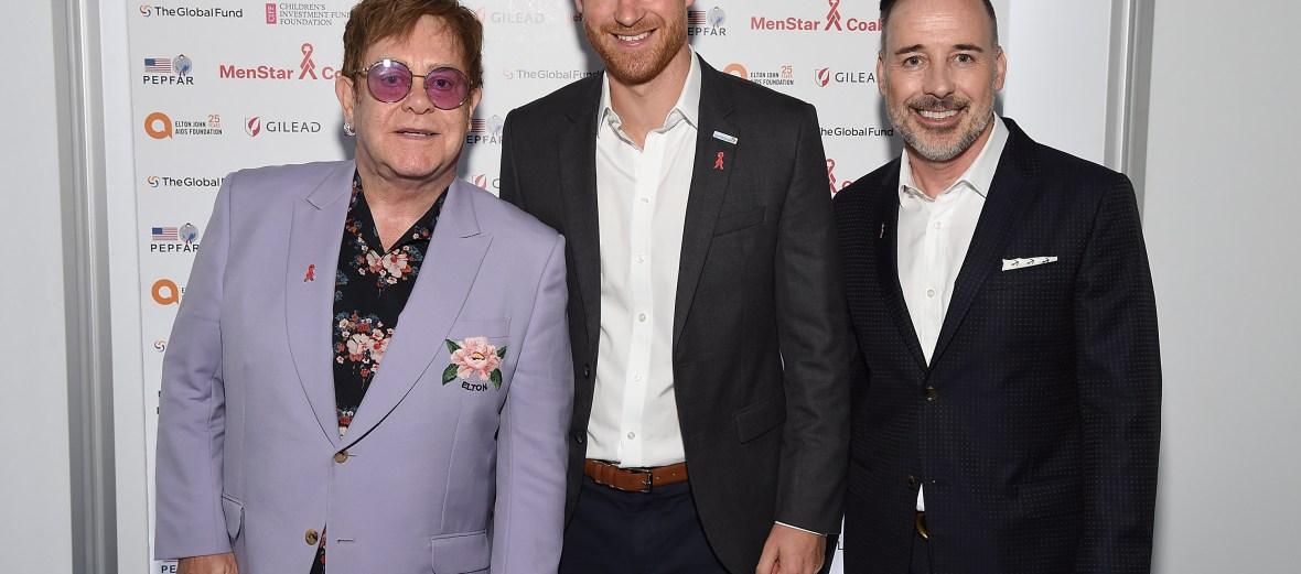 prince harry, elton john, and david furnish