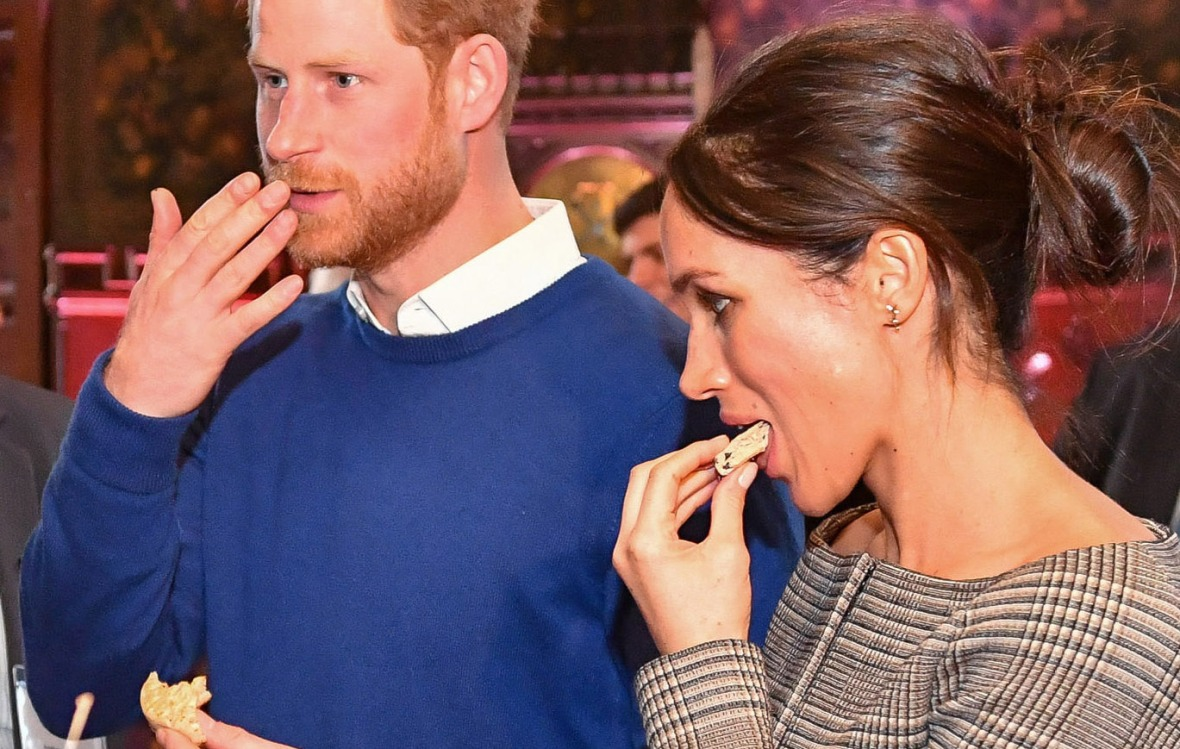meghan markle prince harry eating