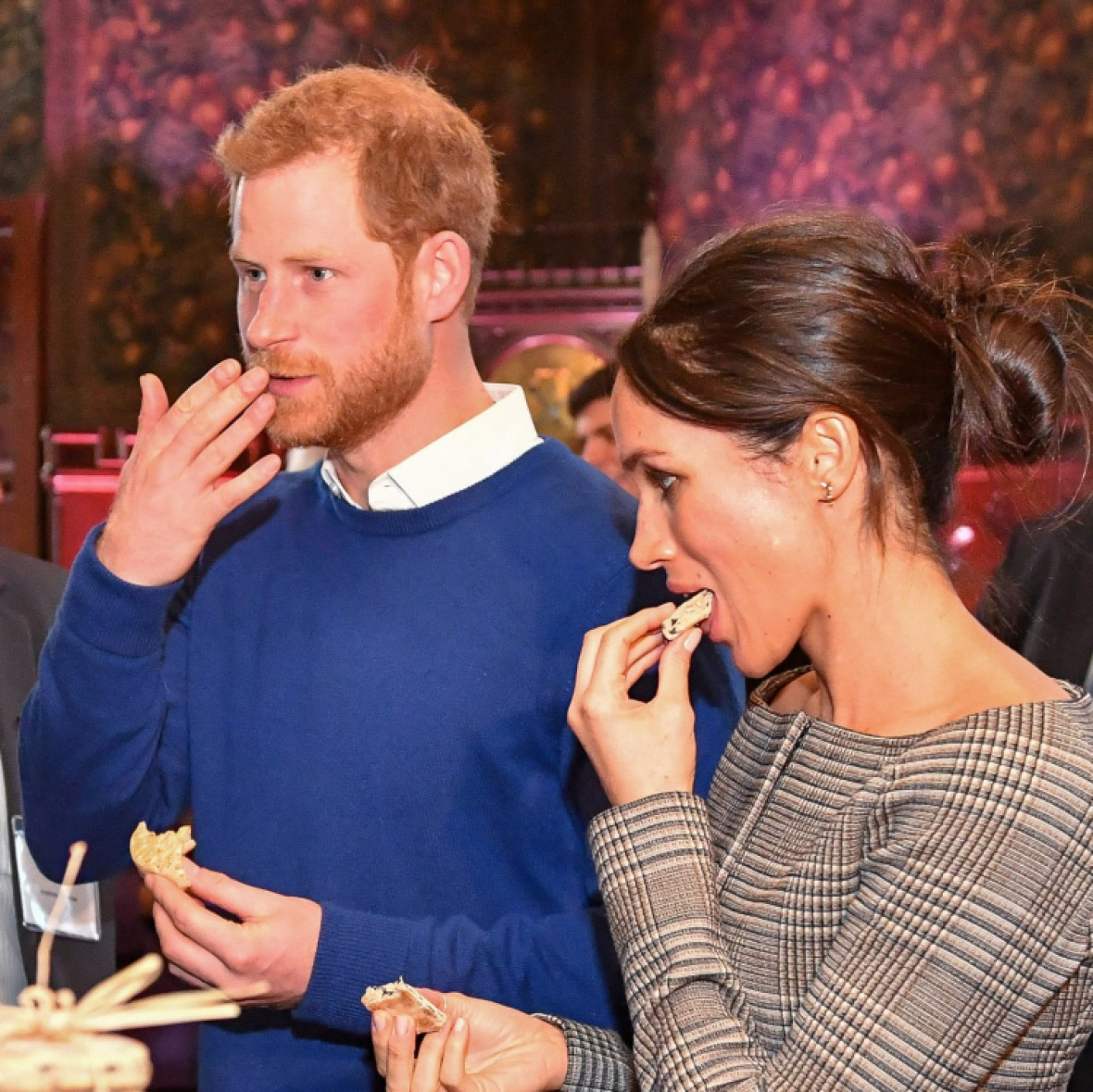 meghan markle prince harry eating