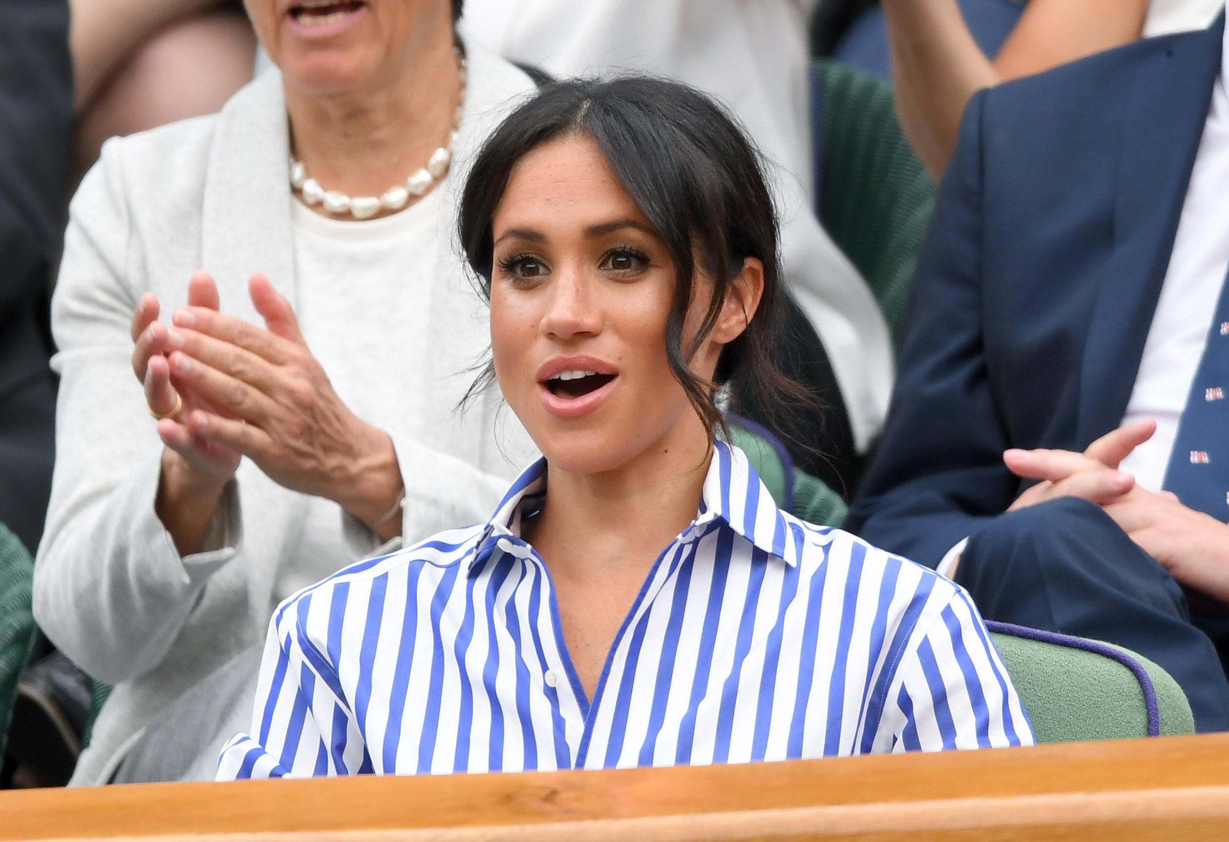 e41e6c15bae Meghan Markle Wasn t Allowed to Wear Her Chic Fedora Hat at Wimbledon for a  Weird Reason