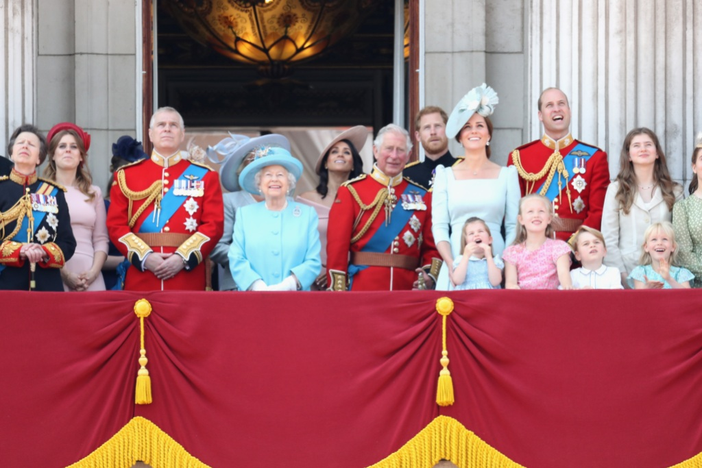 trooping-the-color-royal-family