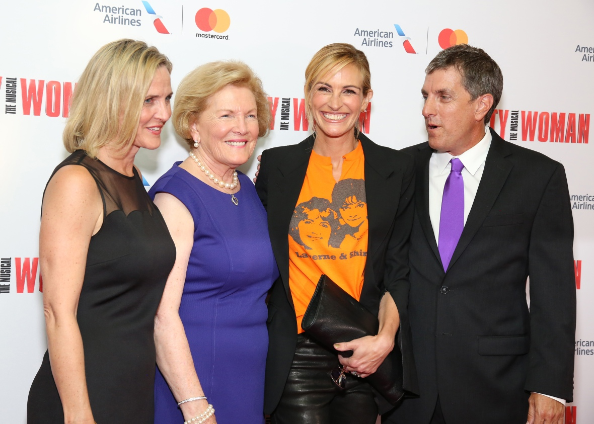 julia with barbara and her family. (photo credit: getty images)