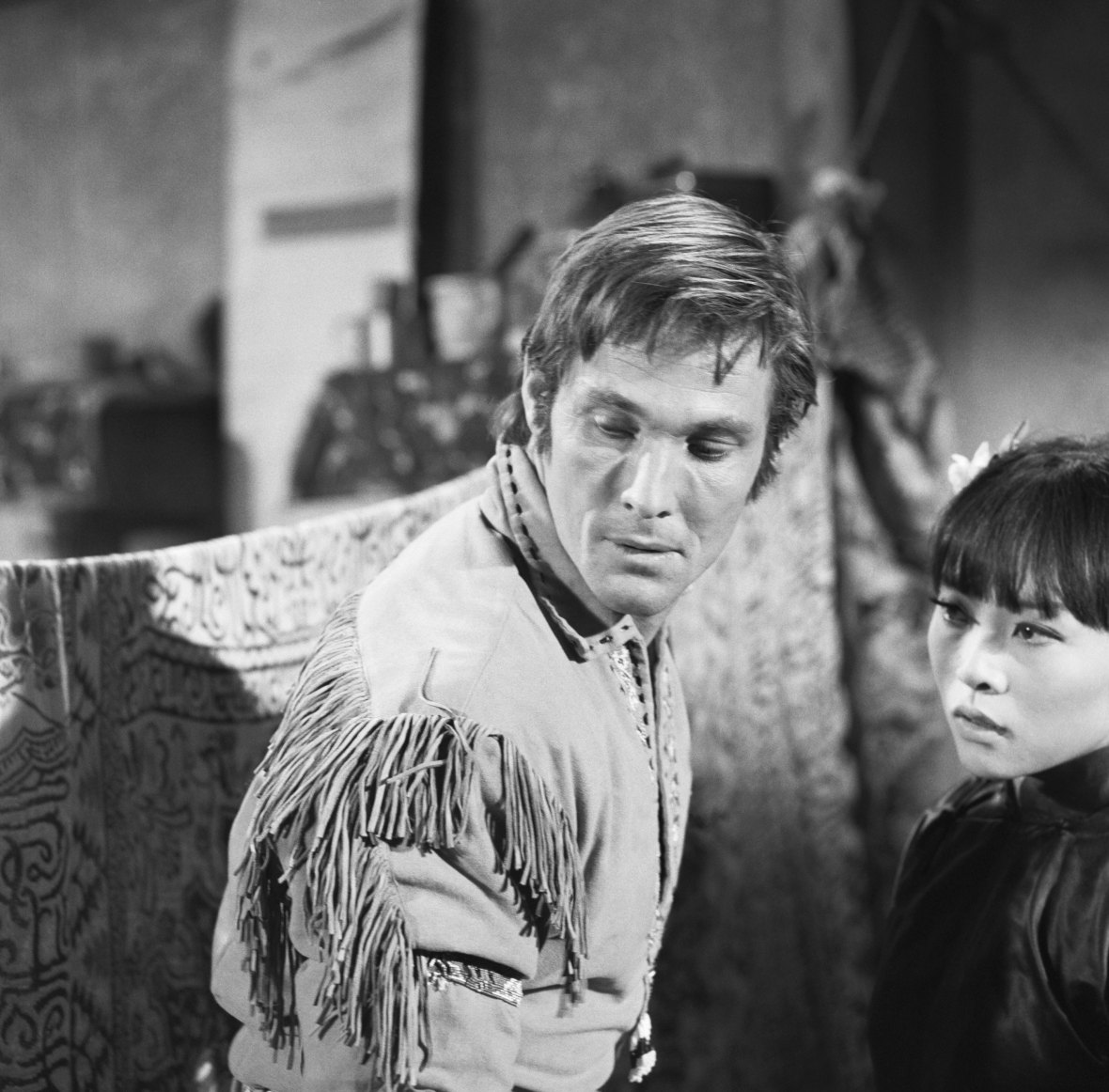 irene in 'laredo' in 1967 with william smith. (photo credit: getty images)