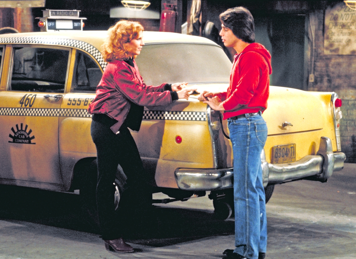 marilu and tony in 'taxi.' (photo credit: getty images)