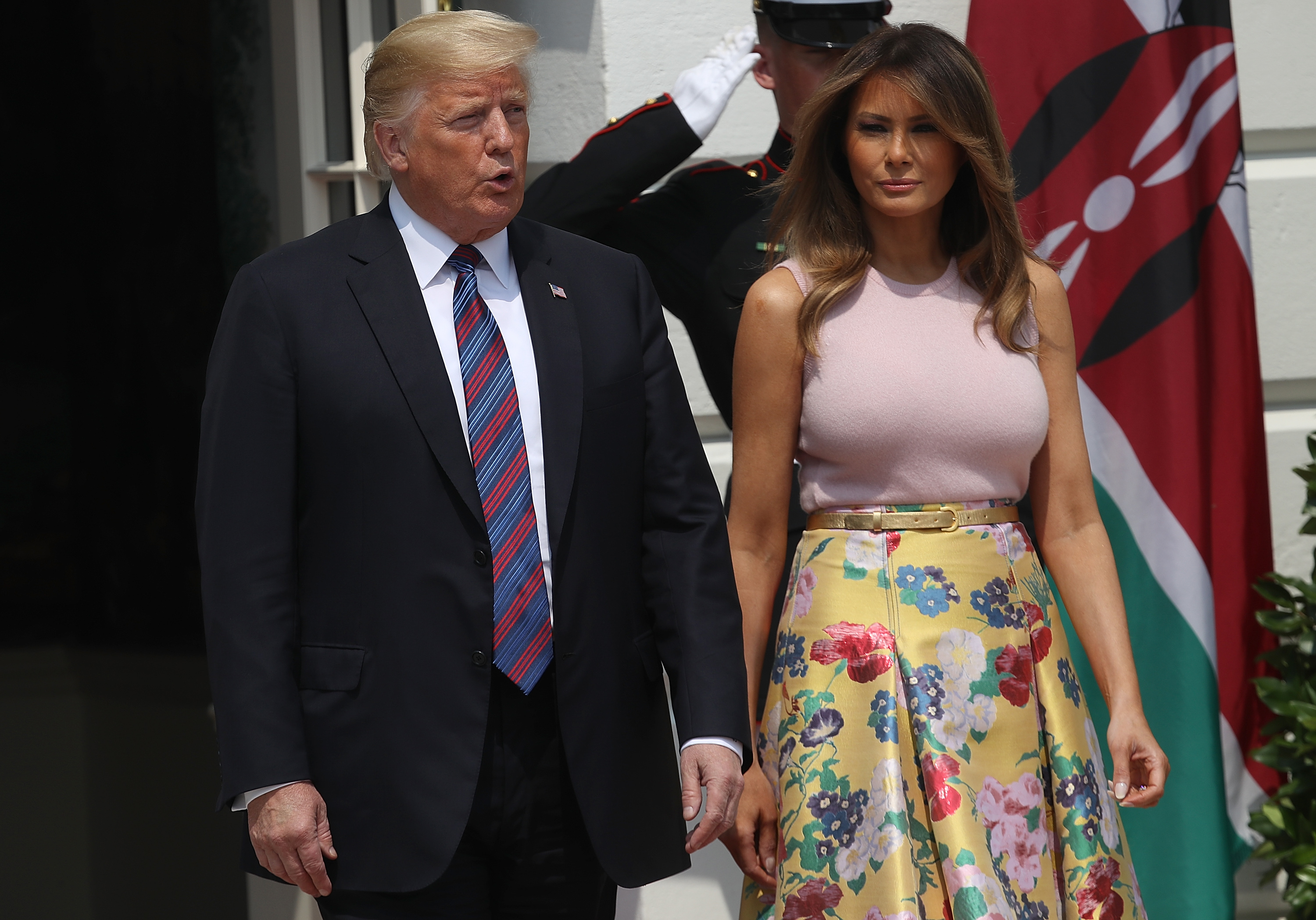 3798b356cf0 Melania Trump Plants A Tree In A Pair of Christian Louboutin Heels And  People Are Conflicted