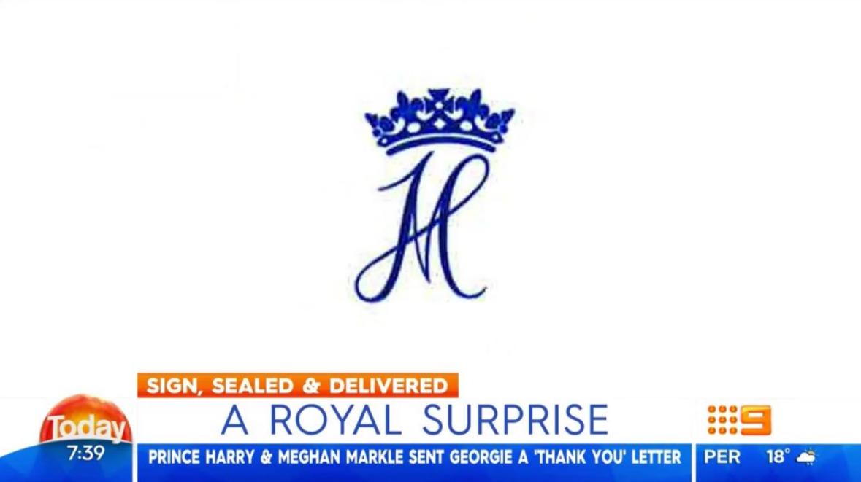 prince harry meghan markle royal monogram