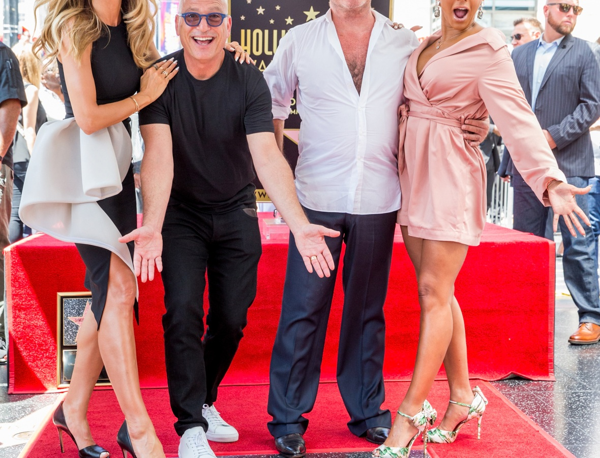 heidi, simon, mel, and howie mandel. (photo credit: getty images)