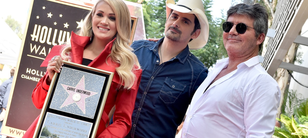 brad paisley simon cowell carrie underwood getty images