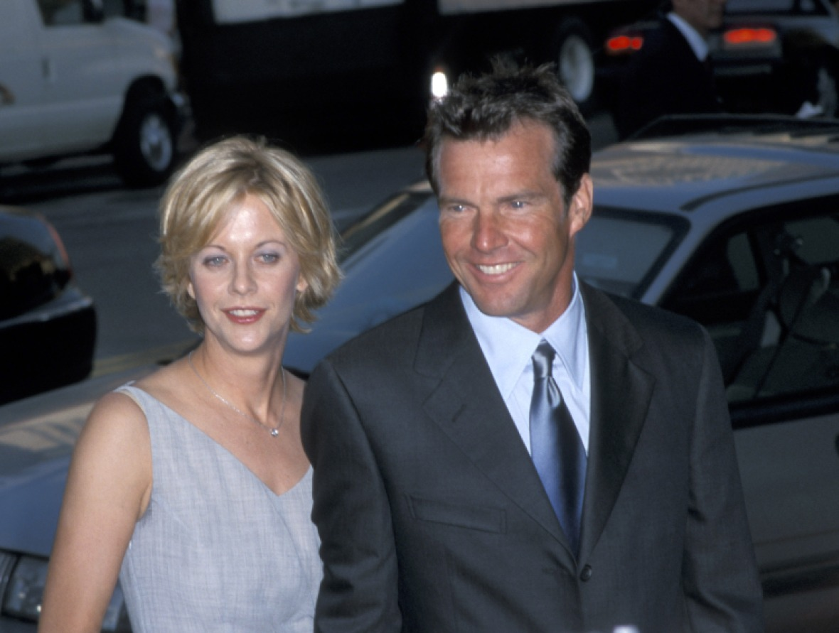 dennis and meg. (photo credit: getty images)