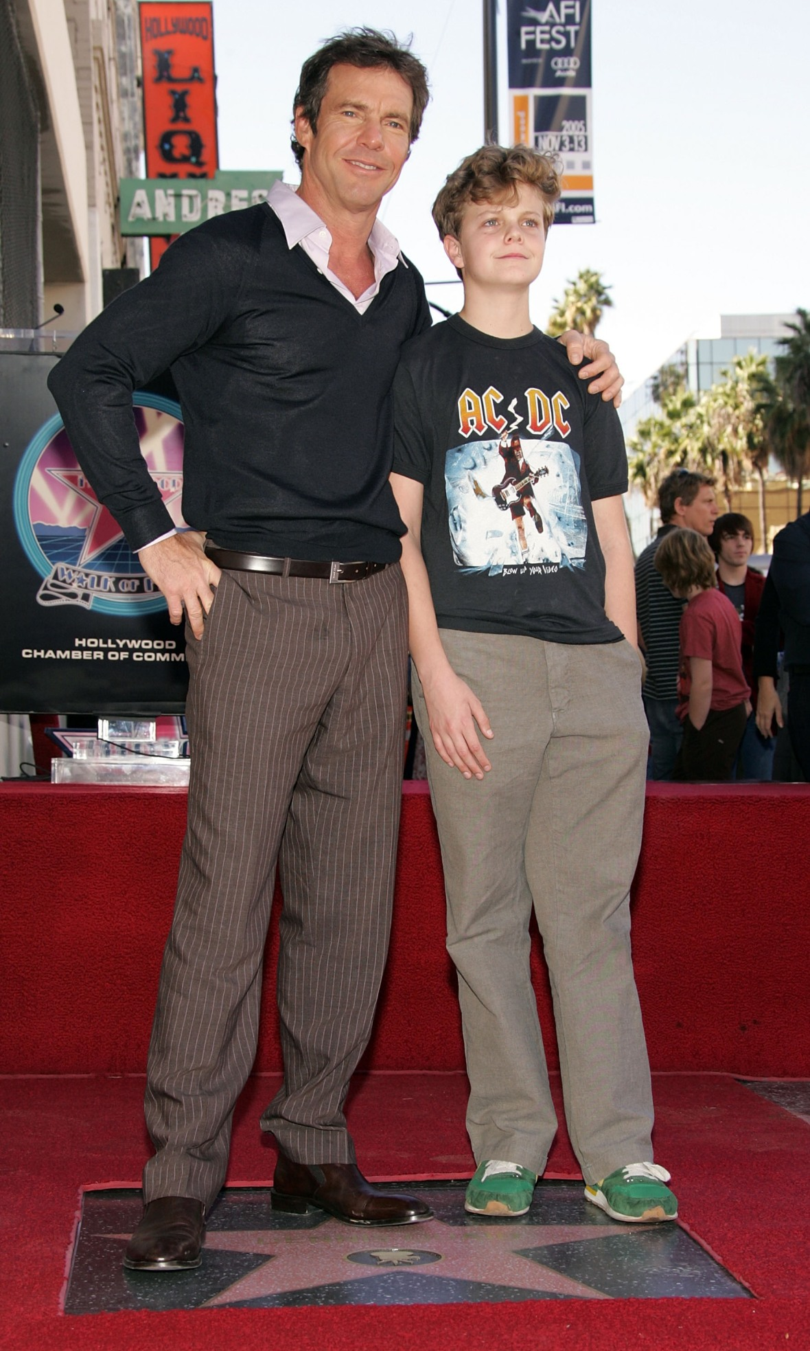 dennis and jack in 2005. (photo credit: getty images)