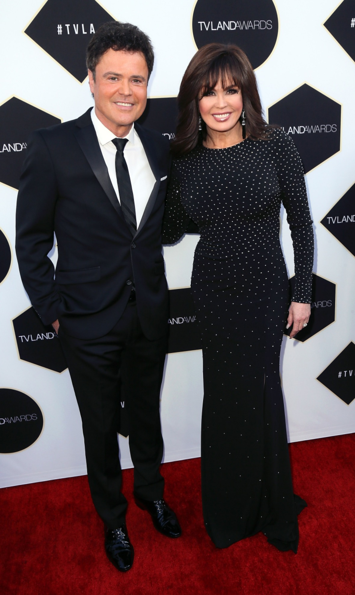 marie and her brother donny. (photo credit: getty images)