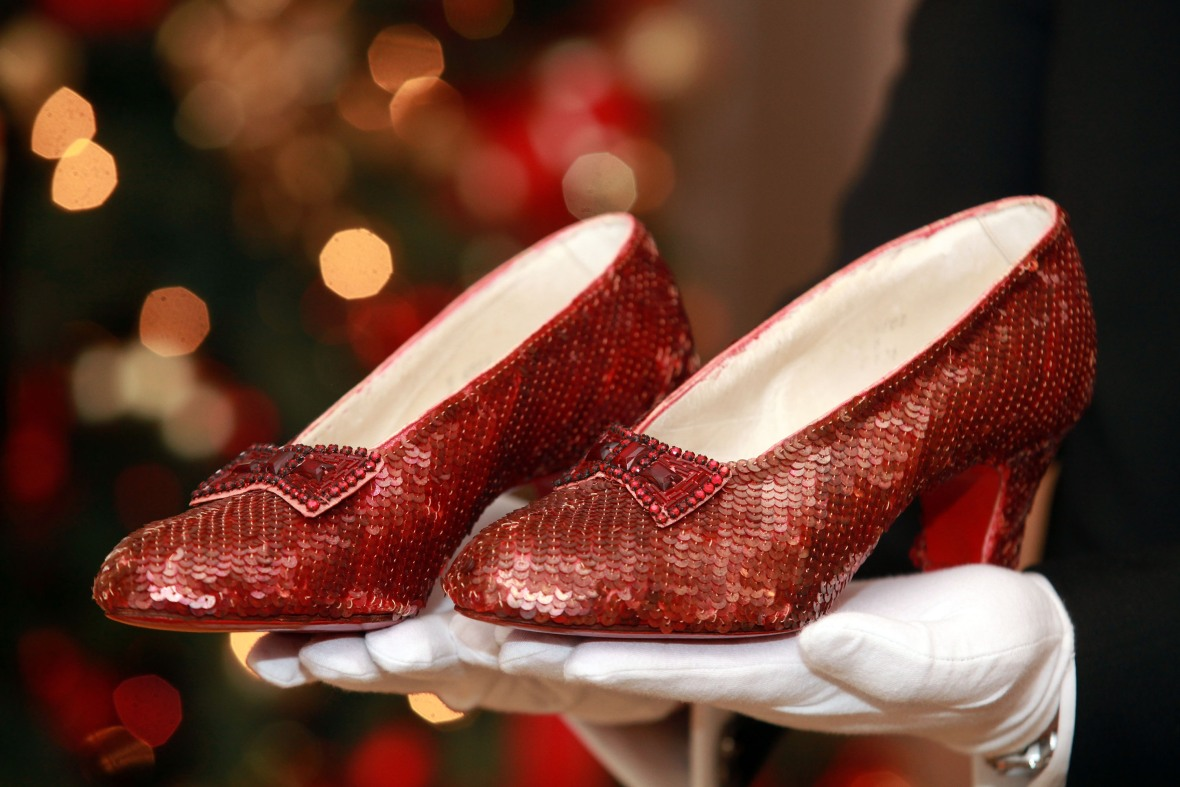 Missing Pair Of Dorothy S Ruby Red Slippers From The