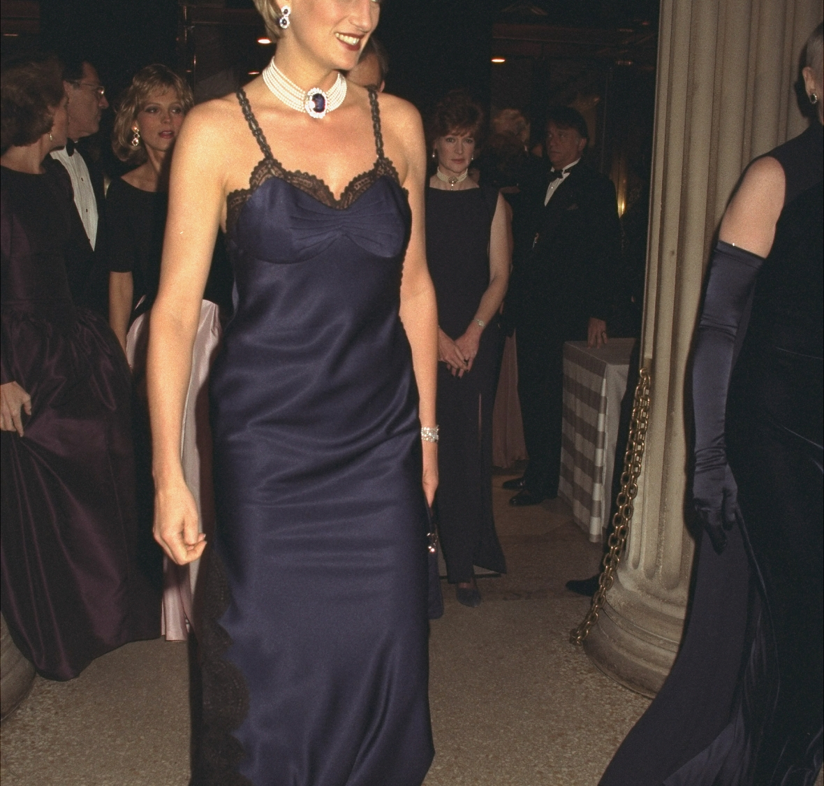 diana at the met gala in 1996. (photo credit: getty images)