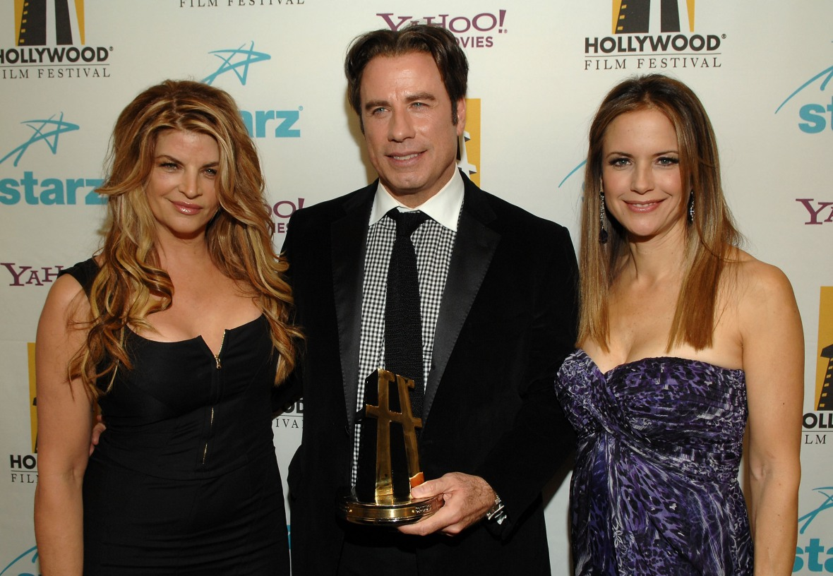 john travolta kelly preston kirstie alley getty images