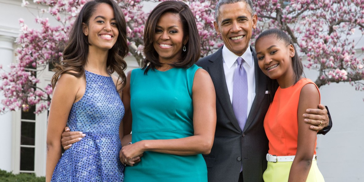 barack and his family. (photo credit: getty images)