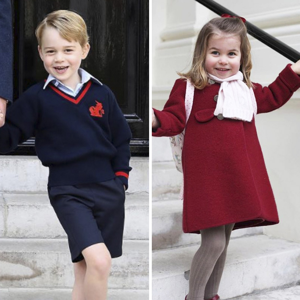 prince george princess charlotte school photos