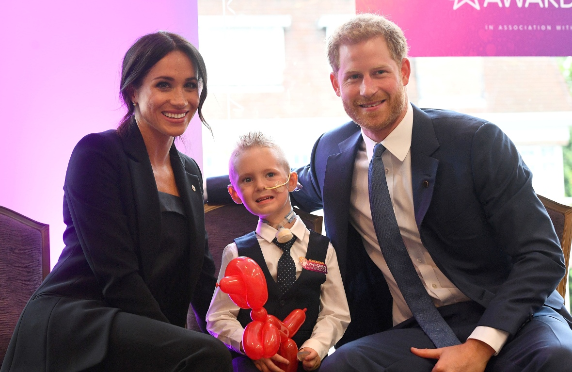 prince harry meghan markle wellchild awards